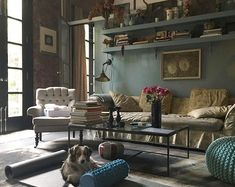 Creating a shabby chic bohemian home is styling interiors with eclectic and vintage designs, using rustic wood furniture, architectural elements … Jeanne Damas, Style At Home, Home Decor Items, Cheap Home Decor, Living Room Furniture, Living Room Decor, Living Rooms, Rustic Wood Furniture, Cheap Furniture