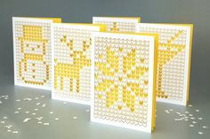 Landor Christmas Card | Die Cut Paper Greeting Card Design Inspiration | Award-winning Graphic Design | D&AD