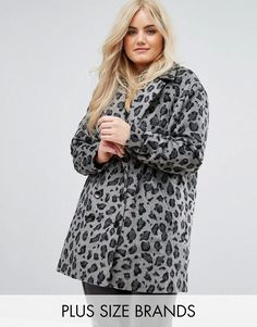 Buy it now. Alice & You Smart Coat In Monochrome Leopard Print - Grey. Plus-size coat by Alice You, Soft-touch fabric, Leopard print, Notch lapels, Button placket, Functional pockets, Regular fit - true to size, Hand wash, 100% Polyester, Our model wears a UK 18/EU 46/US 14 and is 175cm/5'9 tall. With an eclectic mix of vintage influences and contemporary partywear, Manchester-based label Alice You flatter a range of figures with their plus-size designs. Continuing sister brand Glamorous�…