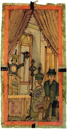 """""""Biskup i dwaj mężczyźni za ołtarzem"""", lata 40., Muzeum Okręgowe, Nowy Sącz"""