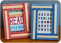 DIY Ruler frame for a back to school party
