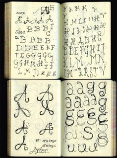 Typography sketchbook. Looks like all of my notebooks.