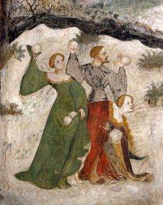 """This is a detail from a 15th-century fresco at the Castello del Buonconsiglio, Trent, Italy, which represents the month of January!"""