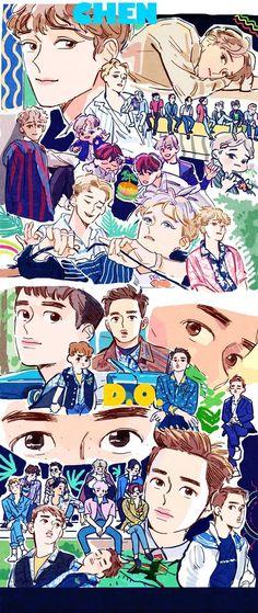#Chen #D.O. #EXO #KoKoBop #Fanart