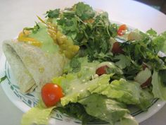 Simple. Healthy. Tasty: Best Burritos with yummy tomatillo dressing