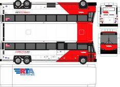 paper model buses | Riverside Transit Agency 2017 MCI D4500CT CNG Paper Bus