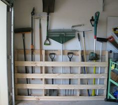 s 17 incredible pallet ideas that took barely any effort, pallet, Place it in the garage as a tool organizer