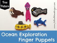 Bugs and Fishes by Lupin: Guest Post: Felt Ocean Finger Puppets Tutorial