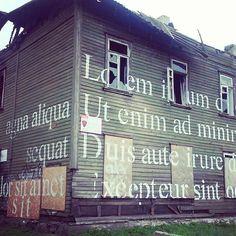 One of the best srteet art works I have seen in Tallinn  #loremipsum #kopliliinid #ghetto #tänavakunst #typography #streetart #abandoned #tallinn #Estonia