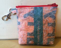 Items similar to Orange and Red Zipper Wallet Pouch Made From Fused Plastic Bags on Etsy Fused Plastic, Recycled Plastic Bags, Pouch, Wallet, Zero Waste, Diy Clothes, Polymer Clay, Coin Purse, Creations