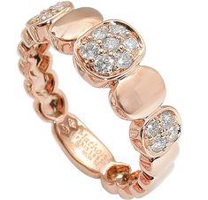 Sequin ring, pink gold, diamonds, Mathon, Paris