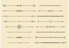 Retro Vector Ornament Lines Design