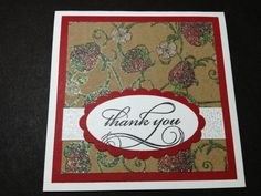 Set of 4 Mini Strawberries Thank You Cards by debkcreations, $3.25