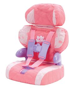 Doll Car Seat and Booster with Seatbelt for Dolls and Stuffed Animals - Bring Your Favorite Friend for a Ride!