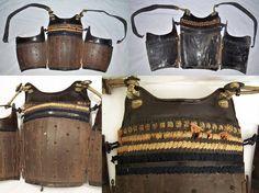 Antique samurai san-mai hara-ate tatehagi hatomune dou (2 hinge, back opening, vertical plate, pidgeon breasted, chest armor).