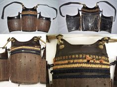 Antique samurai san-mai hara-ate tatehagi hatomune dou (2 hinge, back opening, vertical plate, pidgeon breasted, chest armor).