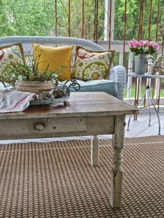 Chateau Chic - Spring Porch with Farm Table coffee table