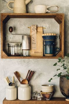 vintage crates used as kitchen wall storage. / sfgirlbybay vintage crates used as kitchen wall storage. Home Decor Kitchen, Interior Design Kitchen, Kitchen Furniture, Furniture Storage, Diy Furniture, Kitchen Rustic, Kitchen Ideas, Furniture Online, Furniture Outlet