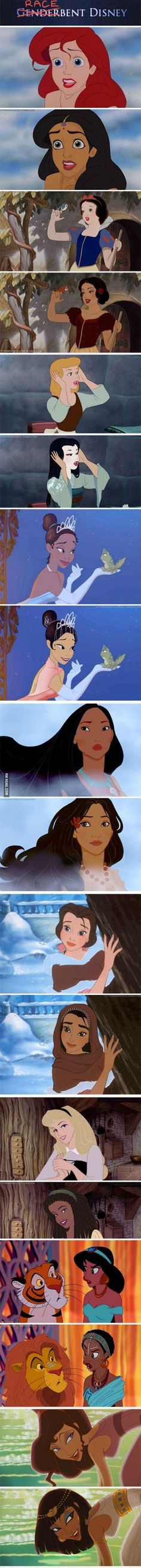 Other-Belle looks a bit like Jasmine. And I like how grown-up Simba makes an appearance.
