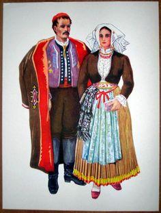 Croatia Folk Costume - Pag