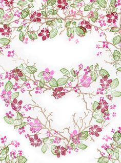 Cherry Blossoms by Rubber Stamp Tapestry