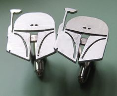 Star Wars Boba Fett Cufflinks by sudlow on Etsy, $55.00.I just bought these for my love and they are awesome.The craftsmanship is perfection. He absolutely loved them! #verysatisfied #sudlow