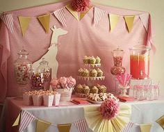 jirafa rosa decoración idea 54 http://hative.com/cute-baby-shower-decoration-ideas/