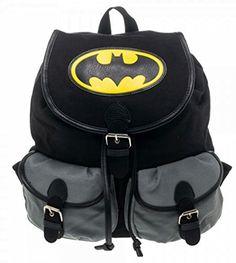 Batman Logo Knapsack Backpack 14 x 17in -- Read more  at the image link.