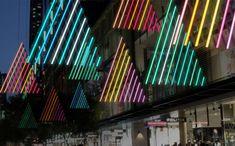 Interactive Christmas light Forest in Pitt Street Mall