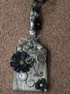 Altered Paint Brush Steampunk - Scrapbook.com