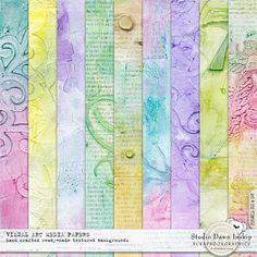 Visual Textured Art Media Papers #artmediapapers #handmade #visualartmediabundle #dawninskip #scrapbookgraphics
