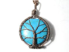 (via The Tree of Life Wire Sculpture Encased Turquoise by sageANDindie)