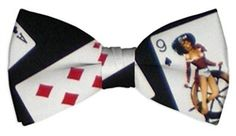 Naughty Cards Black Mens Bow Tie by Loudmouth Golf.  Buy it @ ReadyGolf.com Black Bow Tie, Mens Golf, Bows, Men's Apparel, Bow Ties, Cards, Stuff To Buy, Arches, Butterfly