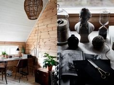 Cu ajutorul fotografului Krista Keltanen mergem într-un tur virtual al unei case din Finlanda unde căldura lemnului este în contrast...
