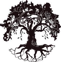 Best Oak Tree Silhouette #17919 - Clipartion.com