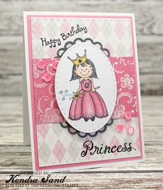 Luv 2 Scrap n' Make Cards, Great Impressions Stamps, Kendra Sand, Handmade Card