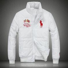 d32d011506d1e Polo officiel - Ralph Lauren doudoune manteau hommes 2013 classic big pony  drapeau national usa blanc Doudoune Ralph Lauren Pas Chere