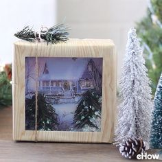 How fun! Snow globe gift wrapping.