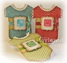 Baby Onesie Cards (Trio) by sunnysankari - Cards and Paper Crafts at Splitcoaststampers