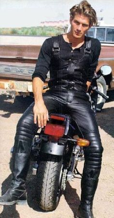 Image result for leather pants mens