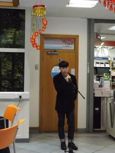 One of our students singing Chinese pop songs