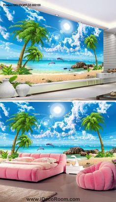 3d Wallpaper For Walls, Floor Wallpaper, Beach Wallpaper, Home Wallpaper, 3d Wall Decor, Unique Wall Decor, Beautiful Dream, Beautiful World, 3d Sidewalk Art
