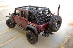Cargo Net, Black; 07-16 Jeep Wrangler JK 4 Door