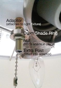 Add a drum shade to your ceiling fan! It only takes 5 minutes with this easy DIY!