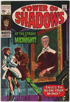 Tower Of Shadows 1 Marvel 1969 FN Jim Steranko John Romita Horror Creepy Comics, Sci Fi Comics, Old Comics, Horror Comics, Fantasy Comics, Vintage Comic Books, Vintage Comics, Comic Book Artists, Comic Books Art