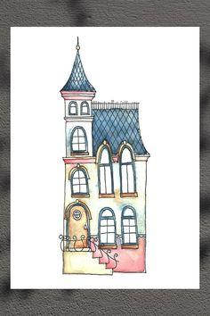 Little Tower 8 1/4 x 11 3/4'' Art Print on Etsy, $14.62