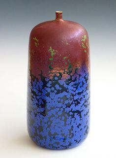 Crystaline glazed bottle - robert hessler pottery