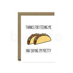 Funny Taco Card Anniversary Boyfriend Girlfriend
