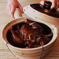 Braised Ginger Chicken (Hongzao Chiang Chi) | Saveur. Braised chicken with dried mushrooms bamboo shoots, and sauce.