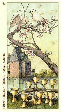 Ten of Cups - Albrecht Dürer Tarot (2002) by Giacinto Gaudenzi